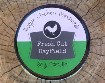 Fresh Cut Hayfield 7.5oz Soy Wax Scented Candle