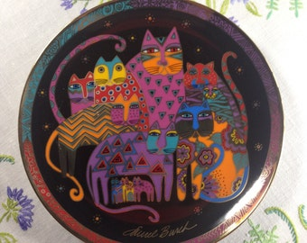 Franklin Mint Heirloom Collection Plate, Fabulous Felines Decorative Plate, Royal Doulton Collectors Plate, Limited Edition Plate