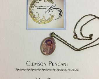 Clemson Necklace // Clemson Jewelry // Clemson Gift // Collegiate Pendant // Clemson Pendant // Game Day Jewelry // Graduation Gift