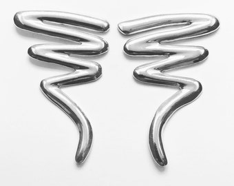 Sterling Silver Squiggle Earrings