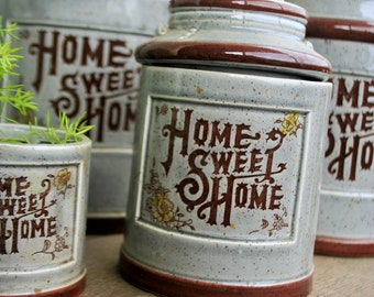 Home Sweet Home Canisters