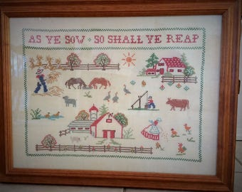As Ye Sow, Cross Stitch Sampler