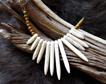 Natural Magnetite Bib Necklace