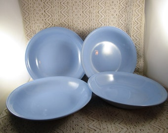 "4 Homer Laughlin Skytone, 1948-1959, 7 1/2"" dessert plate, Set of 4"