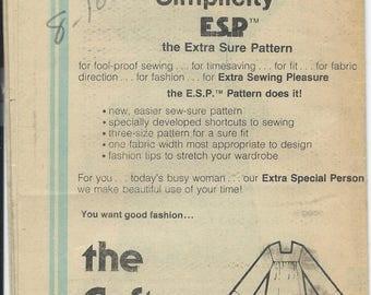 Simplicity, 8752, Misses, Caftan, Sewing Pattern, Woman, Misses Caftan, Womens Caftan, Maxi Dress, Vintage, 1978, Size 8-10-12, Uncut