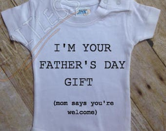Fathers Day Onesie, First Fathers Day, Fathers Day Gift, Funny Fathers Day Shirt, Gift for Dad,Fathers Day gift from baby,Fathers day gift