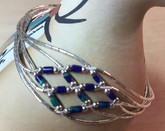 Southwest Woven Sterling Bracelet