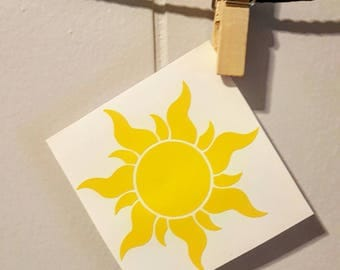 Tangled Sun Car Decal Tangled Sun Decal Tangled Sun Sticker Tangled Car Decal Tangled Decal Disney Car Decal Disney Decal Disney