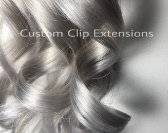 Silver Tape in  Hair Extensions : Light Silver Tape In Hair Extensions, Silver Hair Extensions, Silver Hair, Human  Hair Extensions, Tape in