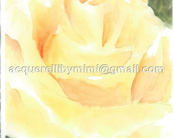 Card pack of 4 -- Yenna's Rose -- Blank Note Cards