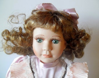 Porcelain doll, vintage doll, antique doll