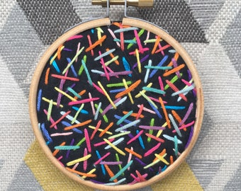 Embroidered Hoop Art: Hundreds and Thousands