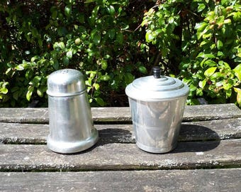 Vintage Aluminium and Bakelite Canister and Flour or Sugar Sifter