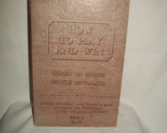 Vintage 1950s Boxed Set of How to Play and Win at Cards Books