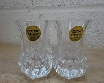 A Pair of Cristal d' Arques Bud Vase/Vintage/1980s