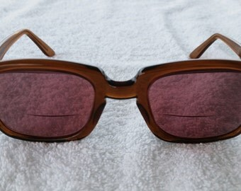 Vintage 1960's Romco Brown Framed RX Sunglasses