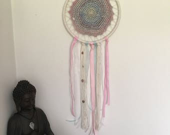 Rose Quartz, Moonstone and Amethyst Dreamcatcher