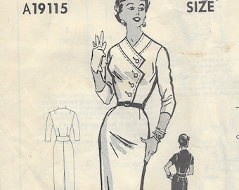 """1950s Vintage Sewing Pattern DRESS B34"""" (R87) By 'Christine Veasey' A19115"""