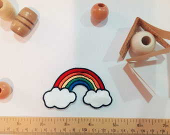Rainbow in Clouds Patch, Vintage
