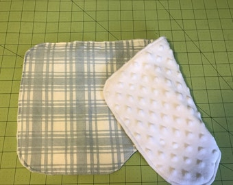 Monogrammed Baby Boy Contoured Burp Cloth Set