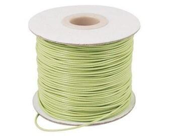 10m Light Green Thin Waxed Nylon Cord 0.5mm Shamballa Kumihimo Braiding Thread