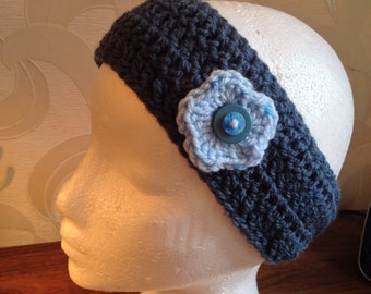 Hand crocheted earwarmer/headband