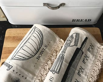 Set of two Tea Towels/Kitchen Towel
