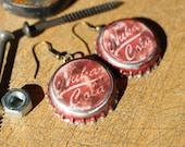 Burgundy Fallout Inspired Earrings