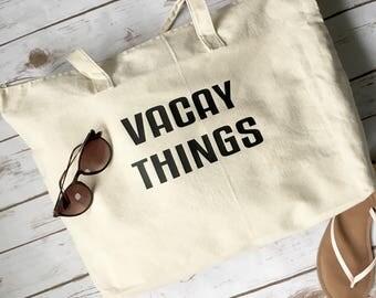 Vacay Things Bag - Vacay Tote Bag - Vacation Bag - Tote Bag - Tote bags - Vacation Tote Bag - Beach Tote Bag - Vacay Mode - Canvas Tote Bag