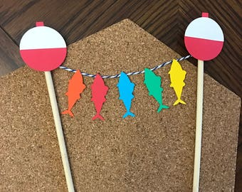 Fishing Party Cake Topper