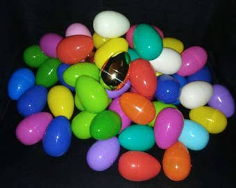 100 Bright Assorted Easter Eggs 3 inches!