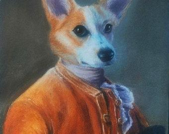 Custom portrait 50x70cm animal human bust / pastel