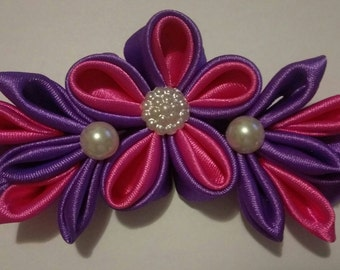Pink and purple star bow