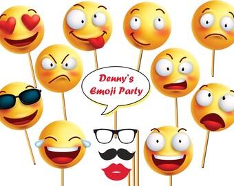 Custom Emoji Photo booth prop, Smiley, Emoticon, Emoji props, Emoji Photo props, selfie party props, Emoji Party, Emoji Birthday ;100206
