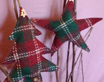Harris Tweed Christmas decorations