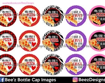 I Have a Crust on You- INSTANT DOWNLOAD- 1 inch Bottle Cap Images