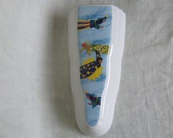 Wall Vase.Soviet vintage.Wall decor. Flower Vase. Porcelain.sorceress. enchantress. fairy. Wall pocket.Wall pocket.Vase wall.Ceramic vase