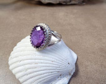 Enchanting 7 Carat Amethyst Ring 1233