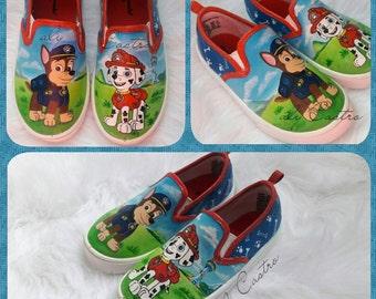Paw patrol custom shoes