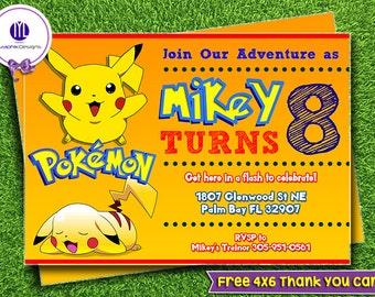 Pokemon go kit etsy pikachu birthday invitations pikachu invites pikachu printable pikachu go party pikachu ideas bookmarktalkfo Gallery