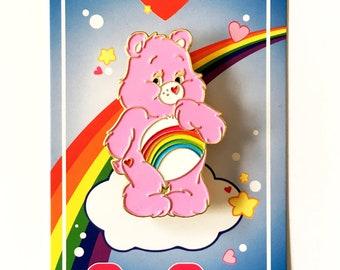 Care Bear Enamel Pin - Cheer Bear - Lapel Pin - Hat Pin
