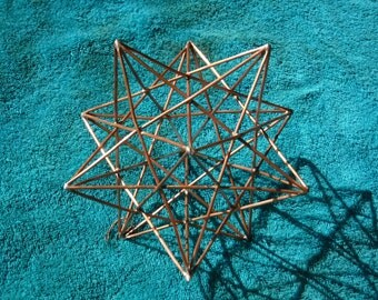 Copper Stellated Dodecahedron/ Solar Star