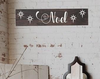 Wood Noel Sign, Rustic Christmas decoration, Wall Art, Wood Christmas Sign, Rustic christmas Sign, Farmhouse Christmas Signs, Noel Sign