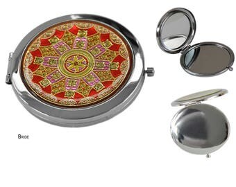 Compact Mirrors, Travel Mirror, Compact Folding Pocket Mirror, Pocket Mirrors. Make up, Purse Mirrors Cute Round Pocket Mirrors