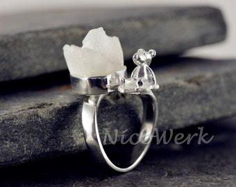 BIJOU ring Silver 925 adjustable silver ring women's rings ladies jewelry 217