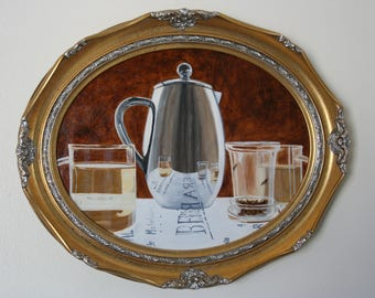 "Acrylic Painting ""Green Tea"""