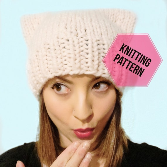 Pussy Cat Hat Knitting Pattern//Pussy Cat Hat Pattern//Pussy Cat Hat//Pussy Hat Pattern