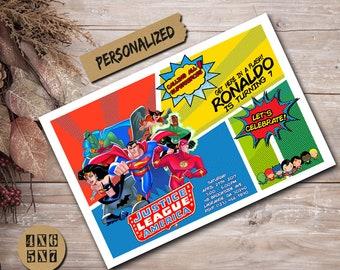 Superhero Invitation / Superhero Birthday Invitation / Superhero Party / Superhero Birthday / Superhero Invite / Super Hero Card / Superhero