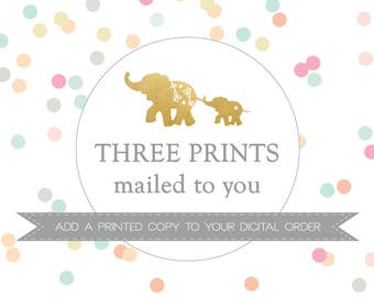 THREE PRINTS mailed to you // Add a PRINTED copy to your digital order // Peanut Prints Boutique Printing.