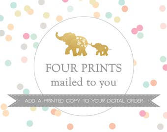 FOUR PRINTS mailed to you // Add a PRINTED copy to your digital order // Peanut Prints Boutique Printing.